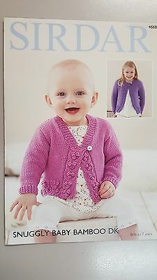 Sirdar Knitting Pattern #4668 Baby or Child's Cardigan to Knit in Snuggly Bamboo