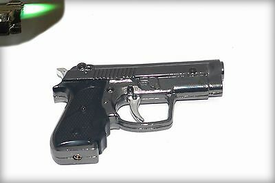 Gun Shaped lighter, jet flame, with flashlight New Lighter- USA Fast Shipping