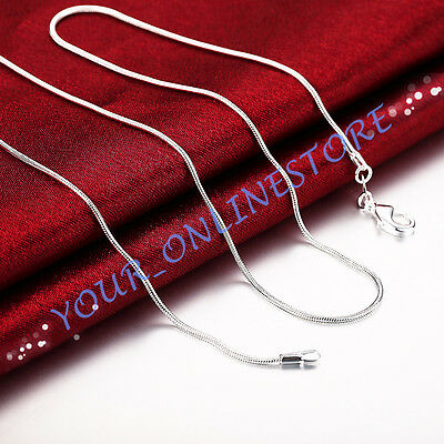 Wholesale Stunning 925 Sterling Silver Plated Classic 1mm Snake Necklace Chain