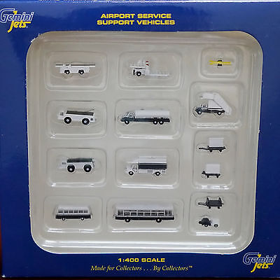 Gemini Jets Airport Service Support Vehicles 14 Piece Set GJARPTSETA, 1/400. New