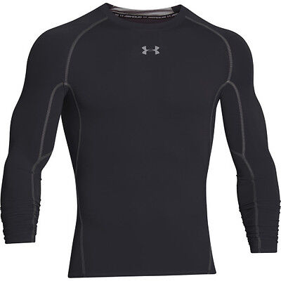 Under Armour Heatgear Ls Compression Hommes Seconde Peau - Black Toutes Tailles
