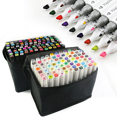168 Colors set Touch Five Marker Pens Graphic Art Twin Tip Pen Markers AU!