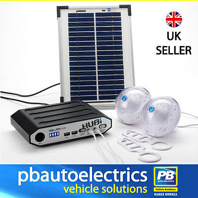 HUBi 2k SOLAR LIGHTING SYSTEM FOR CAMPING, CARAVANS & MOTORHOMES*