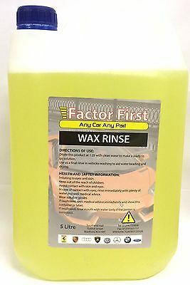 2x Autostar Trade Valet Hi-Wax Rinse Instant Shine Spray Or Pour 5 Litre