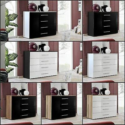 Modern Chest Drawers Cabinet Sideboard Cupboard Commode Glossy GO Free P&P