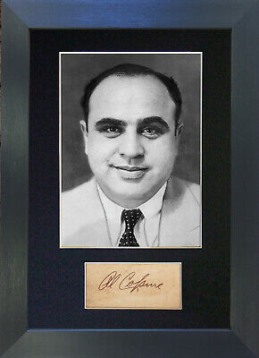 AL CAPONE Signed Mounted Autograph Photo Prints A4 574
