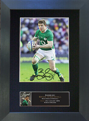 BRIAN O'DRISCOLL Signed Mounted Autograph Photo Prints A4 572