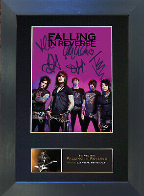 FALLING IN REVERSE Signed Mounted Autograph Photo Prints A4 571