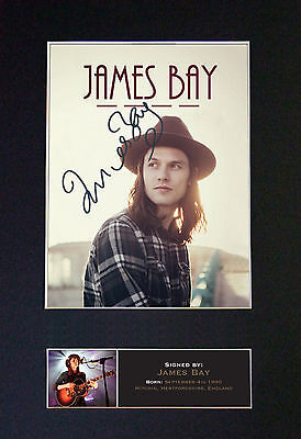 JAMES BAY Signed Mounted Autograph Photo Prints A4 568