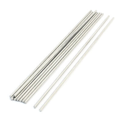 10pcs Stainless Steel 190 x 2.5mm Round Rod Shafts for RC Car Toys