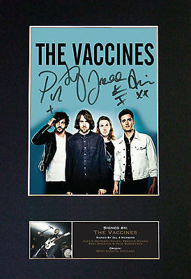 THE VACCINES Signed Mounted Autograph Photo Prints A4 566