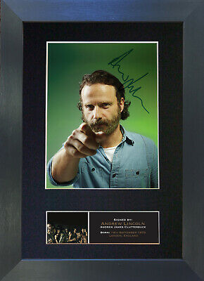 ANDREW LINCOLN Signed Mounted Autograph Photo Prints A4 562
