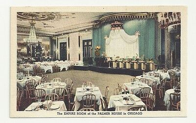 The Empire Room Of Palmer House Hotel Chicago Illinois Unposted Vintage Postcard