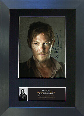 NORMAN REEDUS Signed Mounted Autograph Photo Prints A4 560