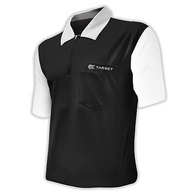Dart Shirts - Target Cool Play 2 - Breathable - Black with White - Small-5XL