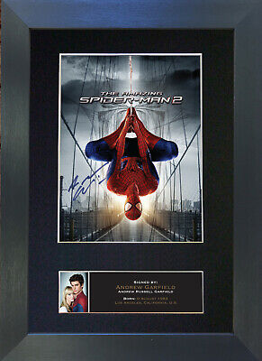 ANDREW GARFIELD Spiderman Signed Mounted Autograph Photo Prints A4 557