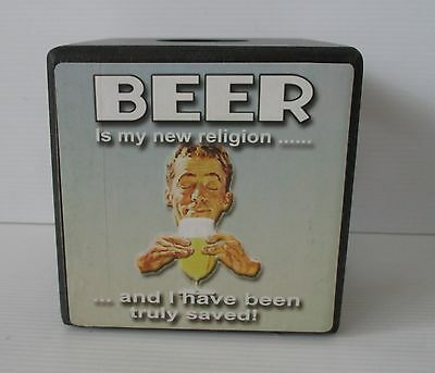 Brand new beer bottle top cap lid storage box for the home bar, pub or collector
