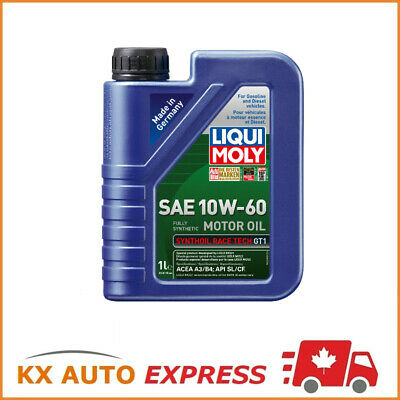 Liqui Moly Synthoil Race Tech GT1 SAE 10W-60 Fully Synthetic Engine Oil 1L 2068