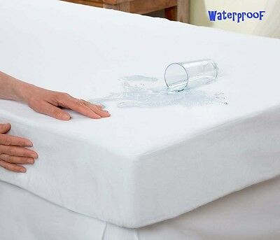 Waterproof Mattress Protector Terry Towel Non Noisy with Natural Cotton Fibres