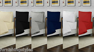 Luxury 100% T200 Egyptian Cotton 4ft Small Double Fitted Sheets 7 Colours