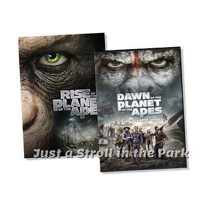 Planet of the Apes Prequels: Dawn and Rise Collection Box / DVD Set(s) NEW!