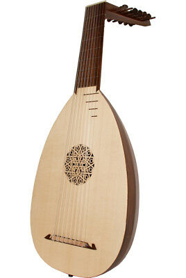 """Roosebeck 30.375"""" Lute 8 Course Canadian Spruce + Book & Padded Gig Bag"""