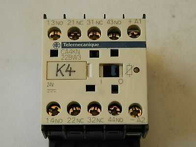 Telemecanique CA4 KN22 BW3 10A Aux Contactor 2x N/O 2x N/C 24vdc Coil