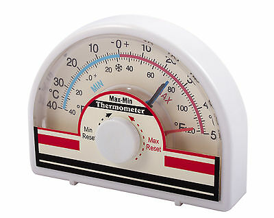 Dial Max-Min Thermometer indoor/outdoor Greenhouse Conservatory
