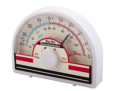 Max-Min Dial Thermometer indoor/outdoor Greenhouse Office Home  Conservatory