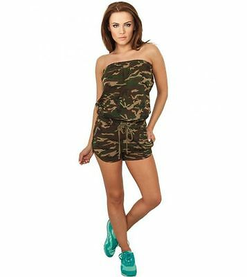 Jumpsuit URBAN CLASSICS Ladies Camo Stretch Jumpsuit