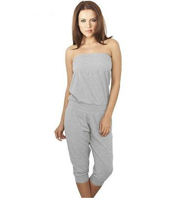 Jumpsuit URBAN CLASSICS Ladies Grau Capri Jumpsuit Stretch
