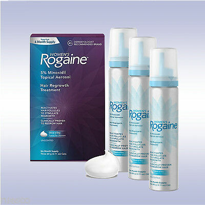 ROGAINE WOMEN'S FOAM (6 MONTH SUPPLY) women hair regrowth treament regaine