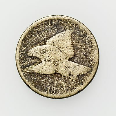 1858 Flying Eagle Cent Small Circulated Coin, 19th Century U.S. [2728.14]
