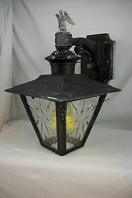 Vintage Outdoor Porch Sconce 1960s Federal Wall Sconce Eagle Mid Century Italian