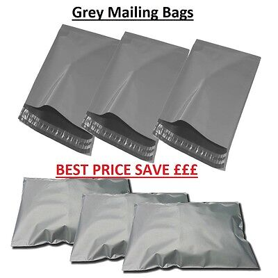 100 x Mixed Grey Assorted Plastic Poly Postal Mailing Mail Bags (STANDARD PACK)