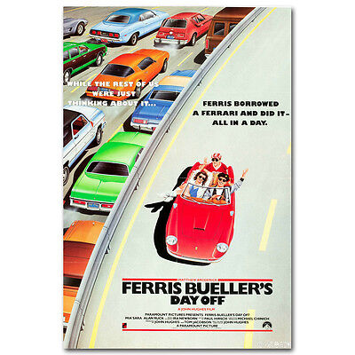 Classic Movie FERRIS BUELLER'S DAY OFF cars freeway 80's FAVE Silk Poster 24X36