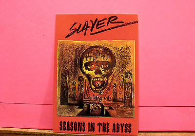 "Slayer Vintage Postcard Uk Made ""seasons In The Abyss"""