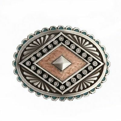 MONTANA - Rock 47® Points of Aztec Copper Pyramid Attitude Buckle - A444CR