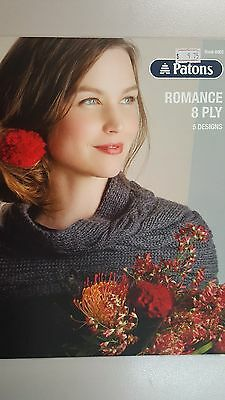 Patons Pattern Book #8002 Romance 8 Ply - 5 Designs to Knit