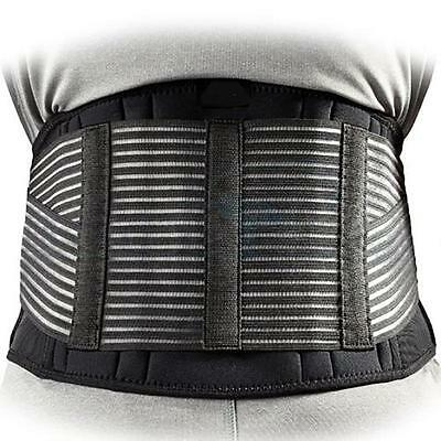 Breathable Double Pull Magnetic Lumbar Lower Back Brace Belt Support Pain Relief