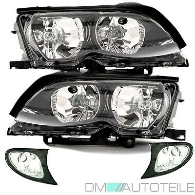 2x BMW E46 Scheinwerfer Set Schwarz H7/H7 01-05 Facelift Original Optik +Blinker