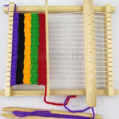 Children Kid Diy Wooden homemade Weaving Loom Science Experiment Educational Toy