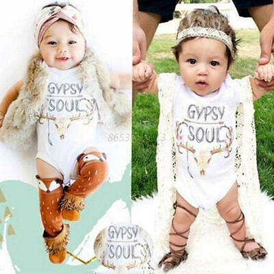 Infant Newborn Baby Short Sleeve Romper Boy Girl Kids Jumpsuit Bodysuit Outfits