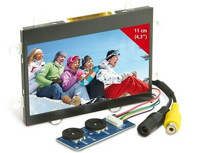 "4,3"" (10,9cm) TFT Display LCD 12V-, Video-In, für Raspberry Pi Türsprechanlagen"