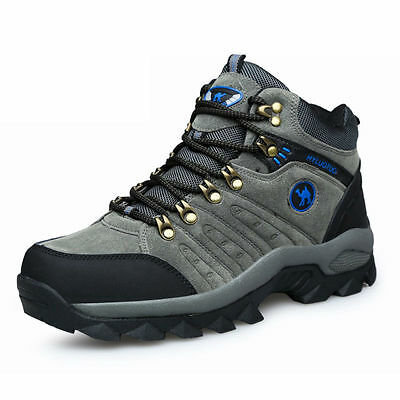 Mens Walking Hiking Trail Waterproof Ventilated Mid high-cut Boots Ourdoor shoes