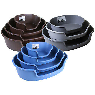 Heavy Duty Plastic Dog Bed Waterproof Comfortable Cat Sleep Basket Extra Large