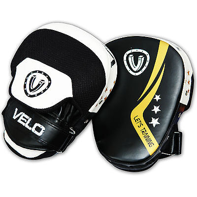 VELO Curved Focus Pads Mitts Hook & Jab Punch Bag Kick Boxing Muay Thai MMA B3ST