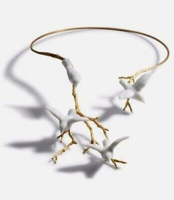 Lladro gold-plated 18 karat sterling silver 925 NECKLACE 01010067 MAGIC FOREST