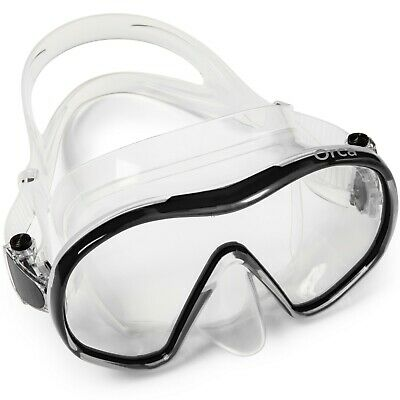 Adventure At Nature Orca Black Clear Frameless Mask Scuba Diving Snorkeling