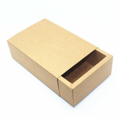 Brown Kraft Paper Drawer Boxes Gift Craft Jewelry Handmade Soap Packaging Box